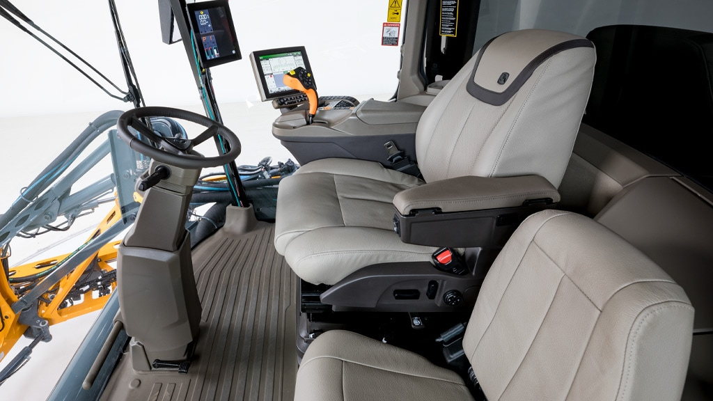 inside of the  cab