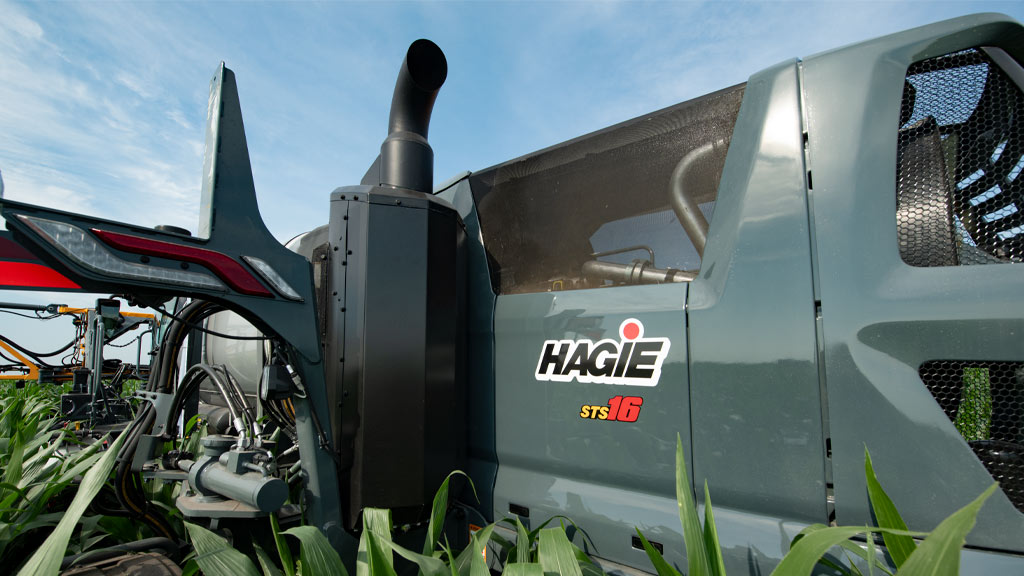 close up of hagie emissions system